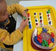 Bon More Play Tray Ideas. Especially Like The Matching Pattern Activity.