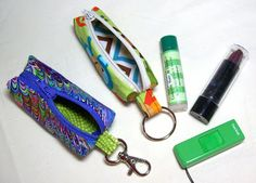 Sid's In Stitches - Tutorial for a little lip balm key chain bag.