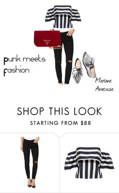 """Punk meets Fashion"" by mamezcuak ❤ liked on Polyvore featuring BLANKNYC, Loeffler Randall and Prada"