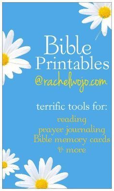 Bible Printables- reading plans, prayer journal pages, bookmarks and other great tools!