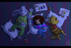 Undertale - Sleepyheads by TC-96.deviantart.com on @DeviantArt