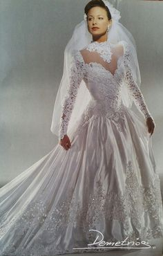 Long Gown For Wedding, Wedding Dress With Veil, Beautiful Wedding Gowns, Wedding Dress Sleeves, Modest Wedding Dresses, Bridal Dresses, Elegant Dresses, Vintage Gowns, Vintage Bridal