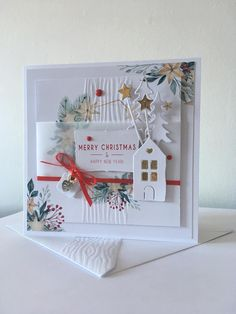 Beautiful Christmas Cards, Christmas Cards To Make, Christmas Gift Tags, Xmas Cards, Diy Cards, Handmade Christmas, Merry Christmas, Candy Cards, Card Making Techniques