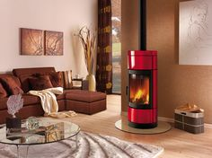 Coloured stoves on Pinterest | Wood Burning Stoves, Modern Fireplaces