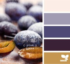 plum tones.  I want these colors for my bedroom!