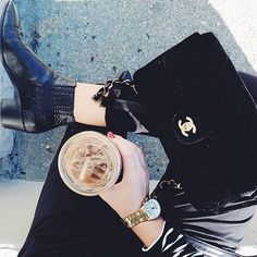 Black on black. #coffeenclothes ☕️ @nicolealyseee