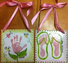 hands and feet wall plaques