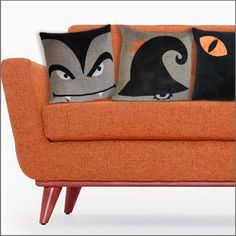 DIY - Fun Modern Halloween Pillow Cover Sewing Pattern PDF File – fab-a-la-carte