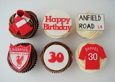 liverpool cup cakes - Google Search