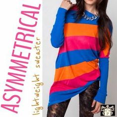 I just added this to my closet on Poshmark: ❤️NWT Bold striped asymmetrical sweater tunic❤️. Price: $40 Size: M / L see description