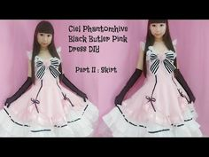 Fancy anime costume DIY - How to Sew Ciel Phantomhive Black Butler Pink Dress Part II: Skirt - YouTube