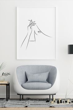 This amazingly elegant and minimal illustration is perfect when framed. All Illustrations were made by us, LadiesMinimal from scratch, without using any premade elements. Women Poster, Fashion Wall Art, Line Drawing, Minimalism, Art Drawings, Delicate, Wall Decor, Illustrations, Black And White