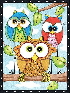 Big-eyed owls peer curiously from their branches in this delightful pencil-by-number kit. Designed for kids ages 8 and up, the kit includes 12 colored pencils, a sharpener, printed board and kid-friendly instructions, including a numbered chart. Fini...
