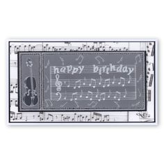 Music plate Groovi card created by Susan Moran