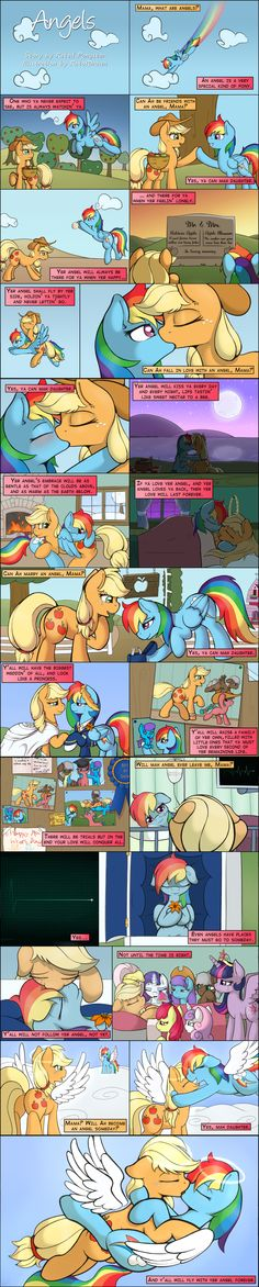 Angels - Story by RatedPonyStar and Illustrated by RatofDawn