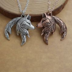 Wolf symbols belong to those who truly understand the depth of passion that belong to this noble creature. The wolf is a representative of deep faith, and profound understanding.Wolf possess a hi. Yin Yang Wolf, Wolf Necklace, Love And Respect, Wolves, Hunting, Creatures, Symbols, Faith, Passion