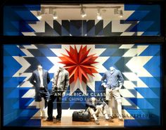 Banana Republic Window Display | Olmpics by Millington Associates | http://buff.ly/1gQB5p2 | #windowdisplay #vm