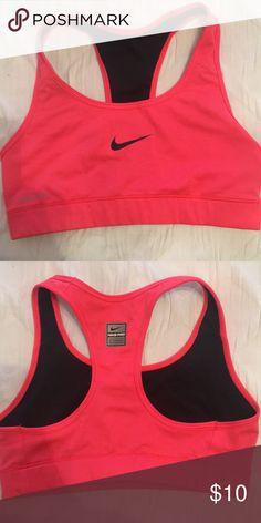 d7abec3397d5c Nike Dri Fit XS sports bra in bright coral Nike Dri Fit XS sports bra in