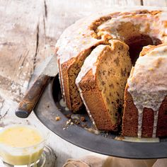 Pecan Pound Cake | MyRecipes.com A drizzle of lemon-infused glaze gives this creamy nut-filled cake a sweet finish.