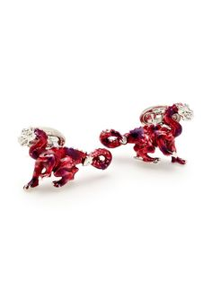 Red Dragon Cufflinks by Jan Leslie