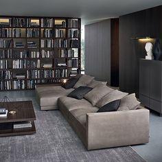 Sofá moderno / de interior / de tela / de Jean-Marie Massaud BRISTOL Poliform