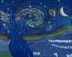 Starry Night on Behance made out of typography