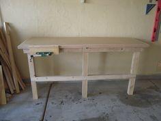Fold Down Work Bench for my Garage Work Shop