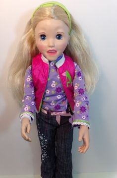 2006 Playmates Toy Amazing Allysen Animated Talking Blonde Doll