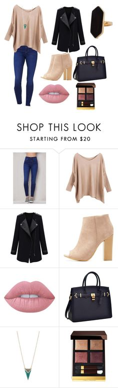 """""""Reto Shirel"""" by nicole-rivero-1 ❤ liked on Polyvore featuring PacSun, Bamboo, Lime Crime, Alexis Bittar, Tom Ford and Jaeger"""