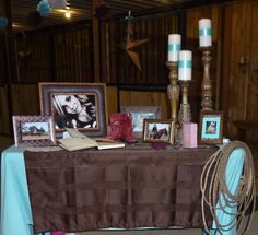 """sweet 16 ~cowgirl style~  """"gift/book table"""""""