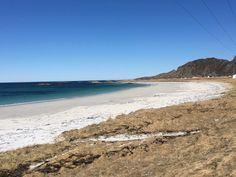 Bleik beach on Andøya in the Vesterålen islands of Norway Norway Beach, Norway Travel Guide, Natural Scenery, Beach Landscape, Lofoten, The Dunes, Sandy Beaches, Islands, Vacation