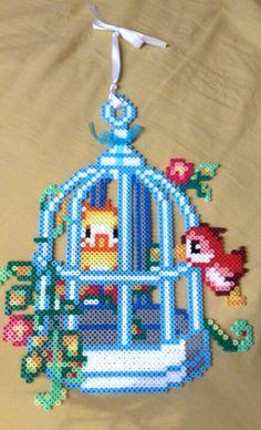 Birdhouse hama perler beads by Sonja Ahacarne