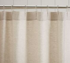 linen ruffle shower curtain potterybarn