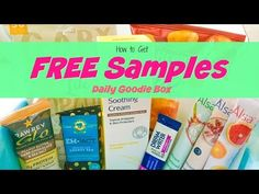 Daily Goodie Box gives you FREE samples of healthy and natural products. No gimmicks, no shipping fees, no credit card - just free products in the mail! Free Samples By Mail, Free Stuff By Mail, Free Sample Boxes, Freebies By Mail, Skin Cream, Shopping Sites, Saving Money, Budgeting, Healthy Living