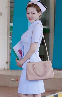 Pretty Asian Girl, Sexy Nurse, Shoulder Bag, Side View, Nurses, Beauty, Beautiful, Asia, Shoulder Bags