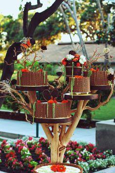 TREE CAKE STAND. I love this