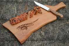 Engraved cutting board Bread cutting board Cheese serving platter Wooden tray | Lenus.me
