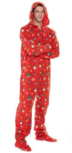 christmas footed pajamas holly jolly christmas adult hoodie drop seat xsmall windowmountain