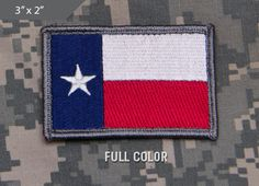 4eed3c60179c Texas Flag Morale Patch - Full Color - Express your individuality with our  collection of Morale