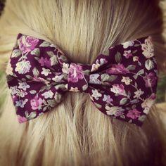 big floral hair bow