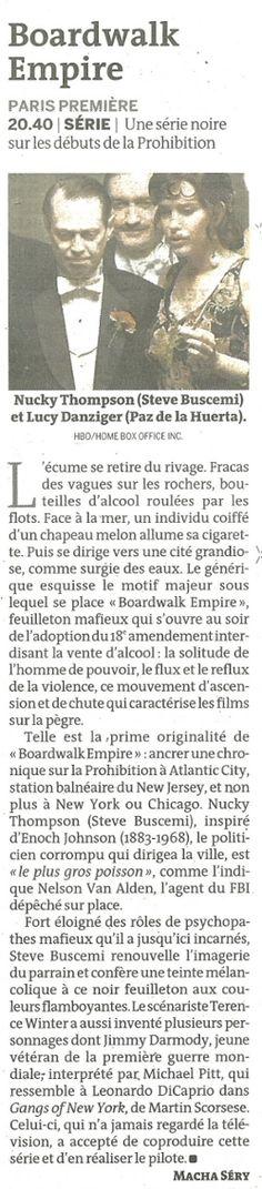 """""""Boardwalk Empire"""" (Le Monde Télévisions)"""