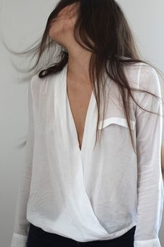 Style / Love these wrap shirts on We Heart It....