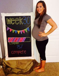 #30weeks #pregnant #chalkboard