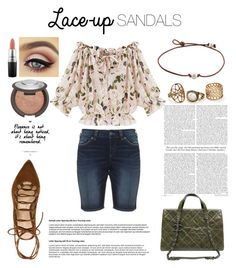 """"""""""" by the-stylist-girl ❤ liked on Polyvore featuring Silver Jeans Co., Stuart Weitzman, Chanel, MAC Cosmetics and Becca"""