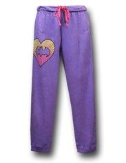 Batgirl Heart Women's Drawstring Crop Pants $21.99