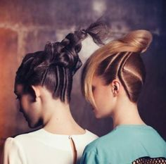 Intricate hair styles to aspire to! Courtesy Christophe Gaillet