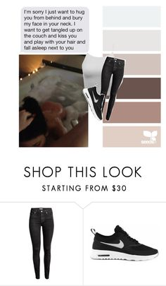 """""""Nothing more but you"""" by alexxvi ❤ liked on Polyvore featuring H&M and NIKE"""