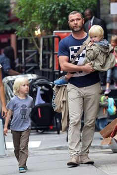 Liev Schreiber was seen with both sons – Kai and Sasha – catching ...