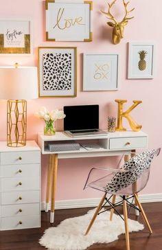Girls Desks bedroom decor on | desks, future children and daughters