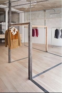 Unconventional clothing display incorporating architecture of space